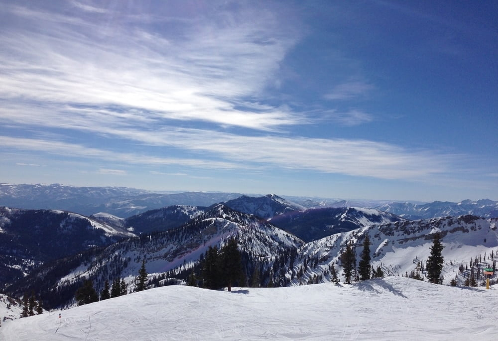 Top of Snowbird, one of the ski resorts that get the most snow in Utah