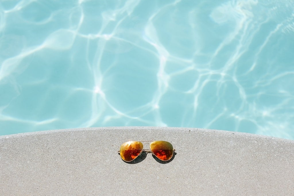 sunglasses by the warm water