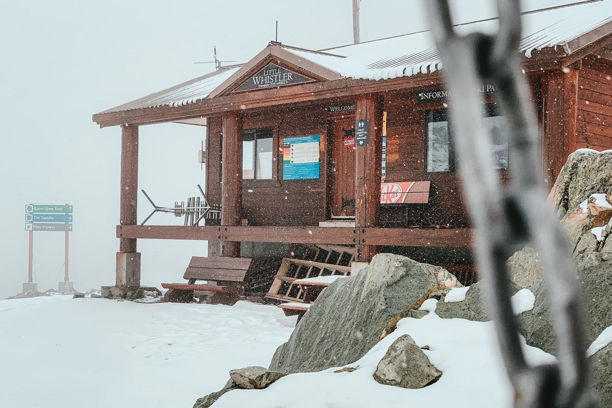 Whistler cabin with information